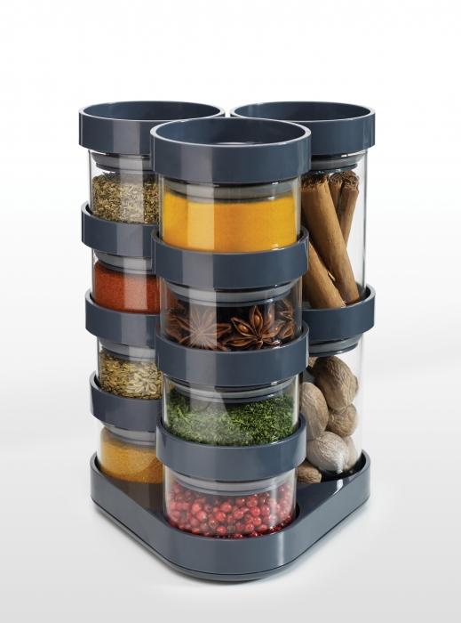 Keuken Carrousel voor Kruiden, set van 10 Grijs
