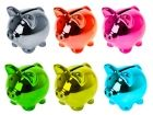 Moneybank Disco Pig mini ceramic 6 ass. colours