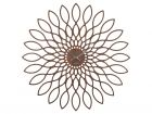 Wall clock Sunflower MDF walnut wood veneer