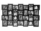 Photo frame 28 in 1 MDF black