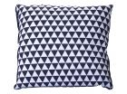 Cushion Triangles dark grey & white square